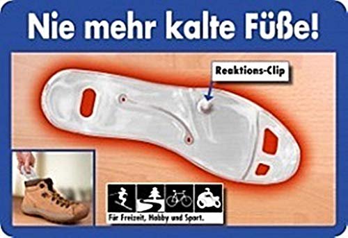 Timo 1 Paar Gel Wärmesohlen Fußsohlenwärmer Wiederverwendbar Einlegesohlen Gr. 41-46