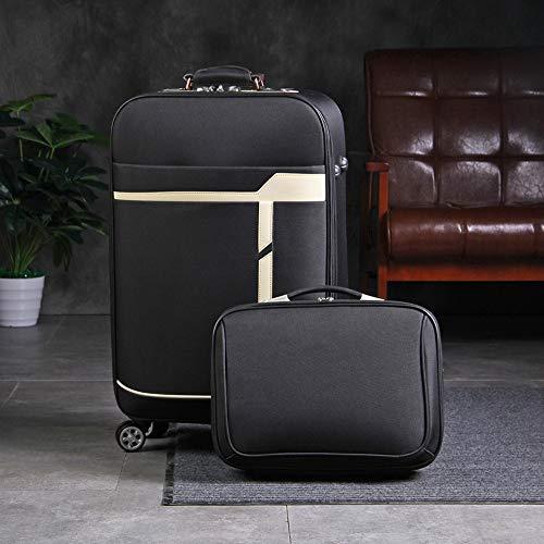 Cooralledtooere 4 Wheel leichtes wasserdichtes Trolley Reise Passwort Gepäck Mode Anzug (Color : F1, Size : 24inch)
