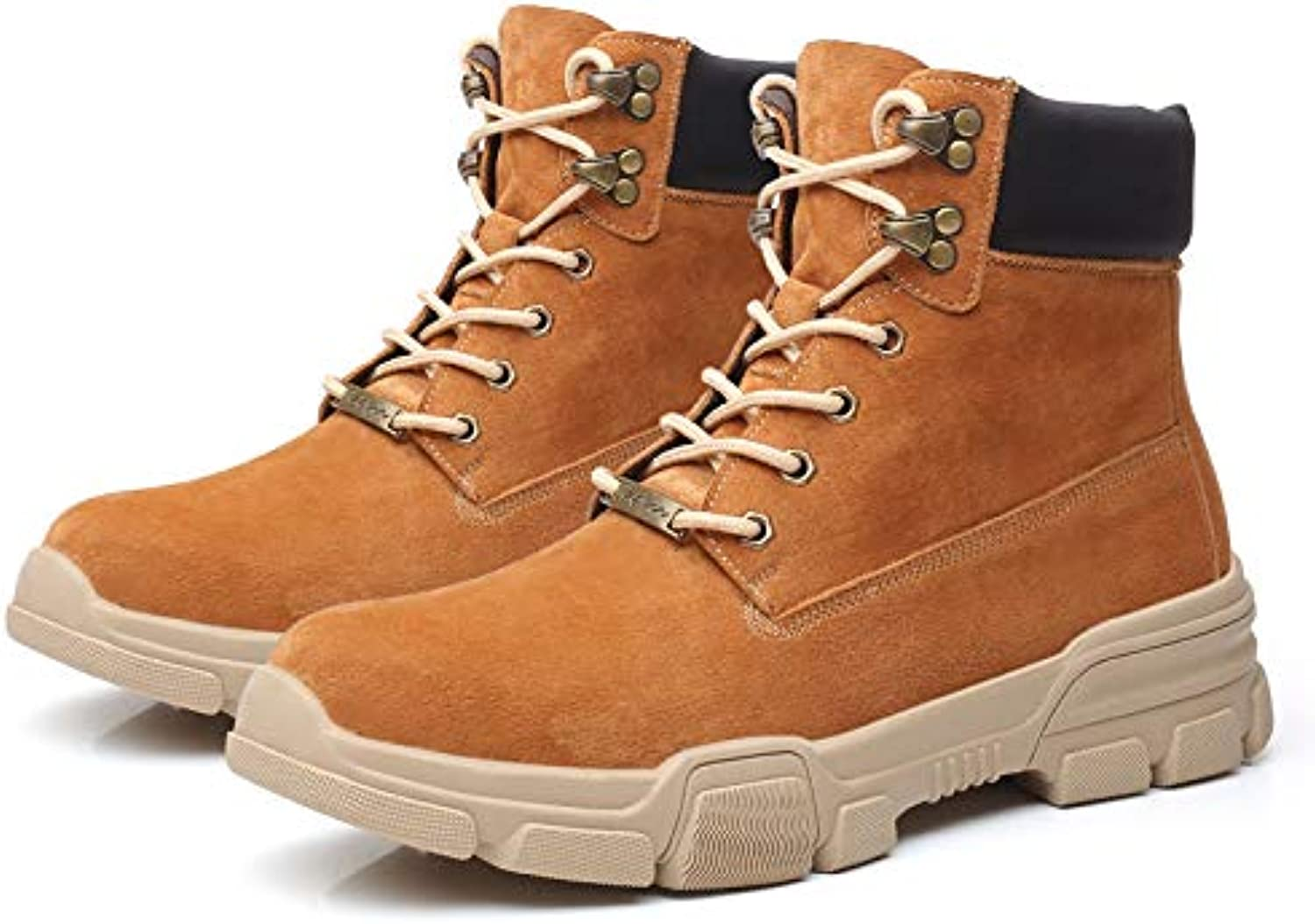LOVDRAM Boots Men's Martin Boots Men'S High shoes New Outdoor Casual Men'S Single shoes Leather Retro High Tube Men'S Martin Boots