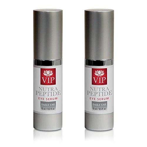 best wrinkle cream for deep wrinkles - NUTRA PEPTIDE EYE SERUM - peptide formula - 2 Bottles