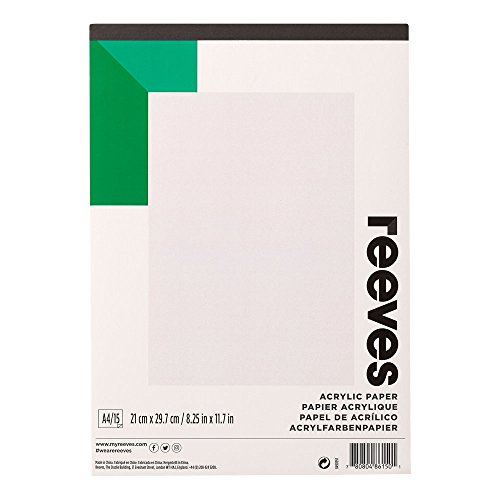 Reeves - Papel para acrílico A4 - Blanco