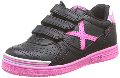 Munich G-3 Kid VCO Profit 14, Zapatillas de Deporte Niña, Negro (Negro/Rosa 014), 30 EU