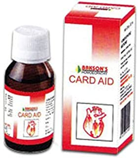 2 Lot Bakson's Homeopathy - Card Aid Drops Heart Toner