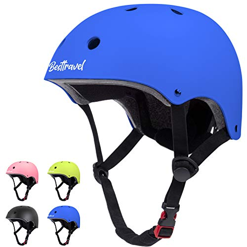 Besttravel Kids Helmet, Toddler Helmet Adjustable Toddler Bike Helmet Ages 3-8 Years Old Boys Girls Multi-Sports Safety-Cycling Skating Scooter Helmet Blue