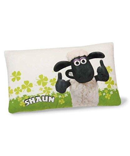 NICI 40675.0-Cuscino Shaun The Sheep con Quadrifoglio con Stampa Rettangolare 43x 25cm