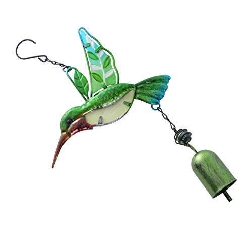 CLISPEED Wind Chime Ornament Metal Cute Hummingbird Hanging Wind Chime Bell Decoration for Outdoor Patio Home Garden Hanging Decoration