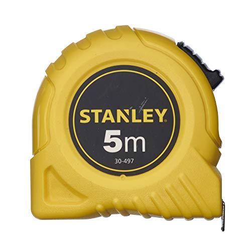 Stanley Bandmass 5 m, extra-starkes gebogenes Band, Polymer-Schutzschicht, Endhaken dreifach vernietet, 0-30-497
