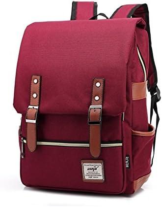O,Like Good Qality Canvas School Backpack Satchel Computer Laptop Daypack
