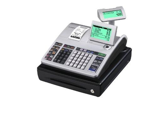 Casio SE-S400SB-SR GDPdU - Caja registradora (10 líneas en pantalla), color plateado y negro