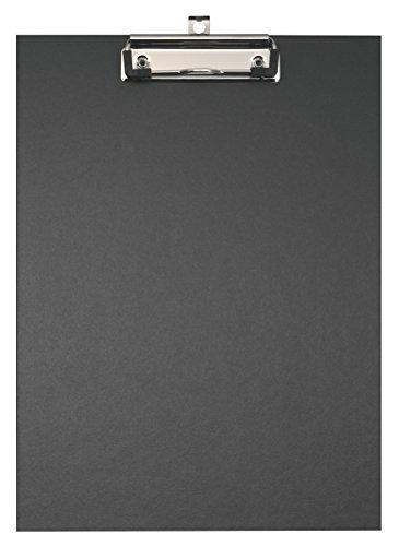 Original Falken Umwelt-Klemmbrett Öko. Made in Germany. Mit stabilem Pappkern und farbigem Papierbezug außen für DIN A4 schwarz Blauer Engel ideal für Inventur und Lagerwirtschaft