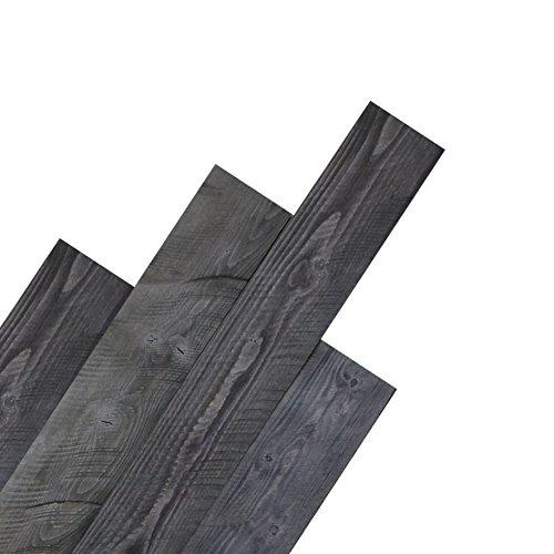DIY Peel and Stick Reclaimed Barn Wood Plank Wall Panel 10pcs per box cover 16sqft (Grey)