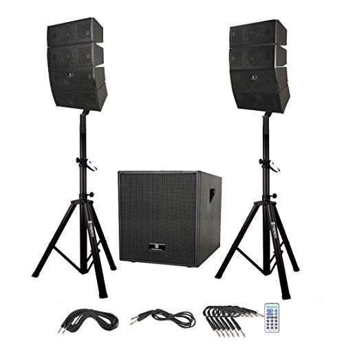 bd4feb67f PRORECK Club AB 12-Inch DJ Powered PA Speaker System Combo Set with  Bluetooth