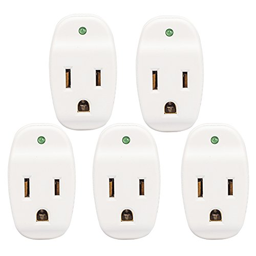 KMC Surge Protector Adapter, 640Joule, Power Plug Adapter,Grounded 1-Outlet Tap (5 Pack)
