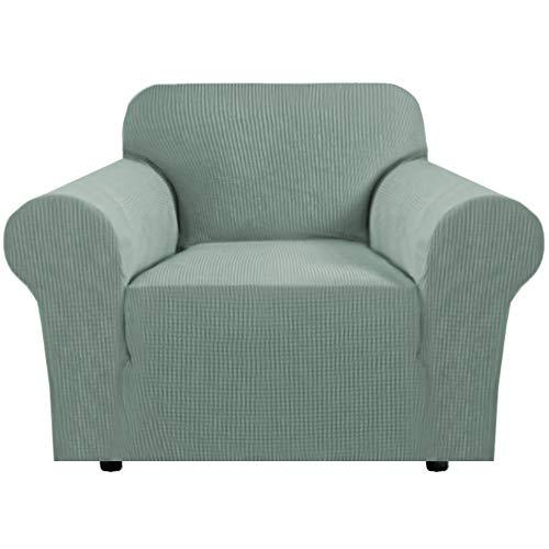 BellaHills Dicke 1 Sitzer Sofabezüge für 2-Kissen-Couch Stilvolle Muster-Sofabezüge für Sofa Stretch Jacquard Sofa Schonbezug für Wohnzimmer Hund Haustier Möbelschutz (2 Sitzer, Salbei)