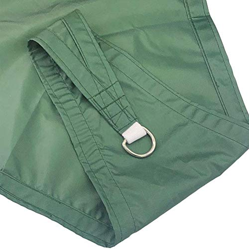 Outdoor Awning Square 3m×6m UV Block, Sunshade Sail Terrace Waterproof, Used for Outdoor Terraces and Garden Backyard Patio Activities-Dark Green