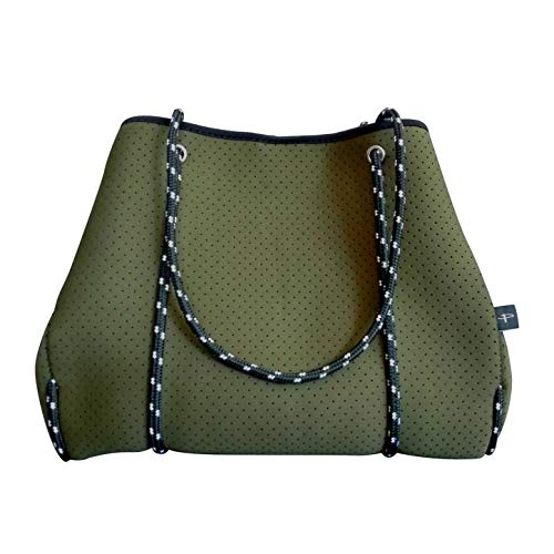 Pole Tribe Studio, Gym, Beach Tote Bags (Olive Green)