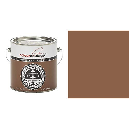 2,5 Liter Colourcourage Premium Wandfarbe Cup Cake Braun Schokolade | L719778619 | geruchslos | tropf- und spritzgehemmt