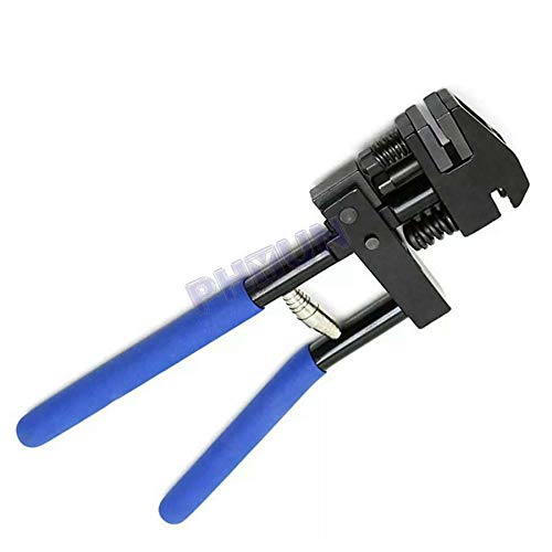 5mm Panel Flanging & Punch Tool Crimp Plier With a Return-spring and Blue PVC Covered Handle For Car Body Repair Sheet Metal Work for Preparing Flange, Punch Holes, or Spot Weld 13mm Crimping Capacity