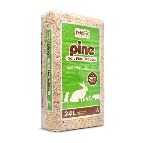 PETSPICK Pine Small Pet Bedding, 24L
