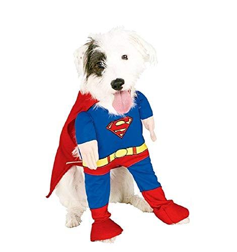 L - Costume Super Eroe - Uomo di Acciaio - Cane - MOD.2 - Idea Regalo per Natale e Compleanno