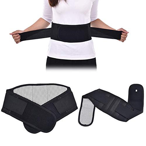 Cinturón de soporte de la cintura, cinturón lumbar de refuerzo térmico en la espalda,...
