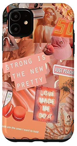 iPhone 11 Peaches Aesthetic Collage Fashion Summer Boho Girl Teen Fun Case