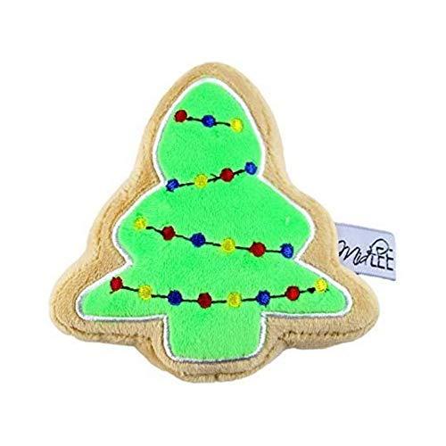Midlee Christmas Sugar Cookie Plush Dog Toy (Christmas Tree, Small)