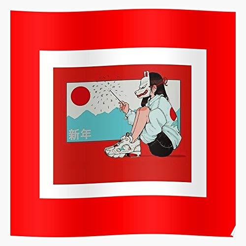 Manga DBZ Deadly Anime Wolf Fox Sins Dragon Seven Ball Geschenk für Wohnkultur Wandkunst drucken Poster 11.7 x 16.5 inch