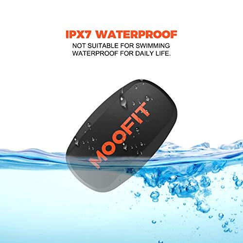 moofit ANT+ Heart Rate Monitor Bluetooth HRM Sensor IP67 Waterproof Compatible with Wahoo Fitness, Endomondo, Peloton…