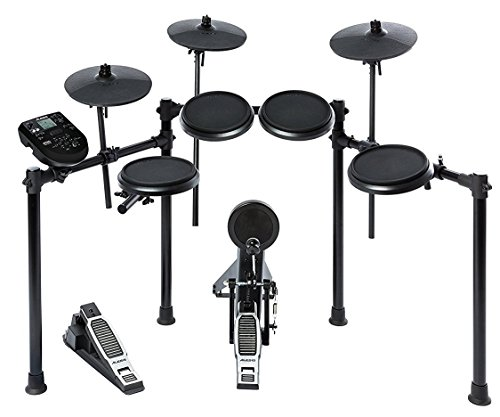 "Alesis Nitro Kit | Electronic Drum Set with 8"" Snare, 8"" Toms, and 10"" Cymbals"