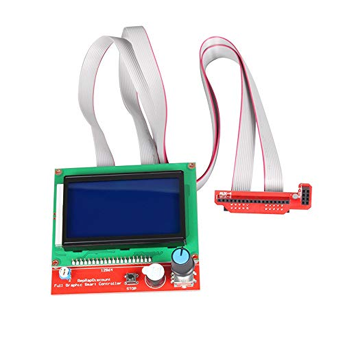 WANGZHI Smart Parts RAMPS 1.4 Controller Control Panel LCD 12864 Display Monitor Motherboard Blue Screen Module