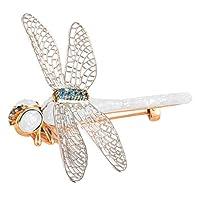 Harilla マルチカラーのトンボブートニアガールのバンケットデートの装飾誕生日プレゼント - 白い