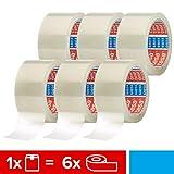 Tesa - 6Rollos, Cinta Adhesiva del Paquete Cinta Adhesiva (66m, 50 mm) Transparente