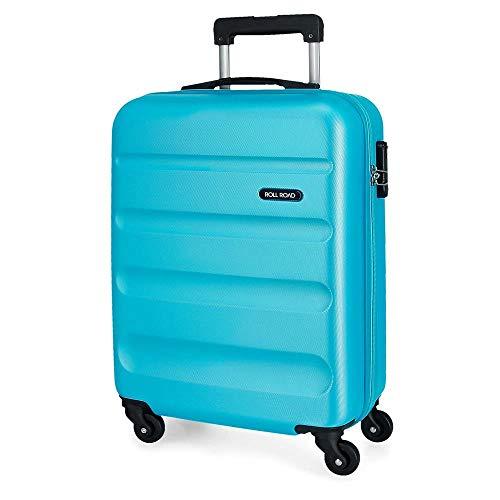 Roll Road Flex Maleta de Cabina Azul 38x55x20 cms Rígida ABS Cierre combinación 35L 2,5Kgs 4 Ruedas Equipaje de Mano