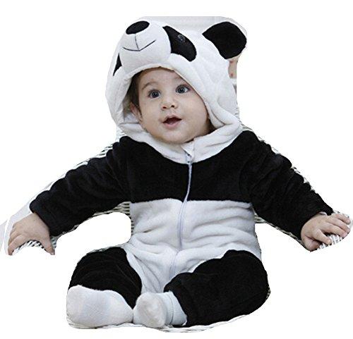 OHmais Bébé Fille garçon Unisexe Grenouillère Costume Deguisement Combinaison Pyjamas vêtement Printemps Automne Panda
