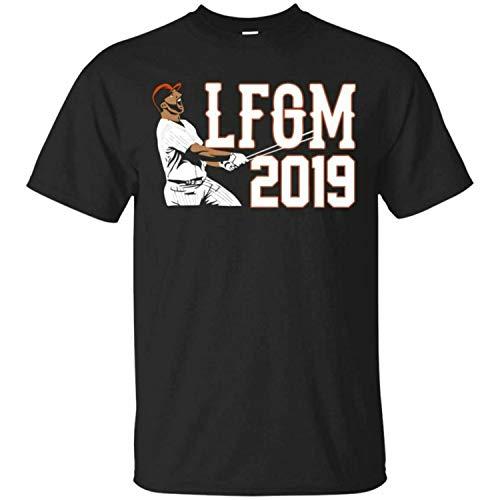 Pete Alonso T-Shirt Pete Alonso LFGM 2019 Men's Tee Shirt Short Sleeve,Black,S