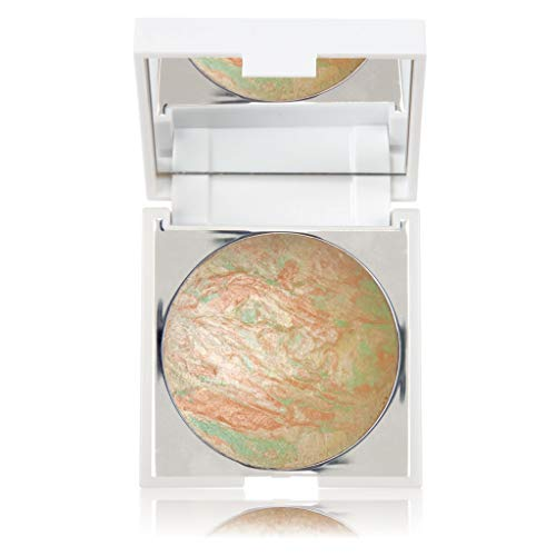 New CID Cosmetics i-glow Aurora Compact Highlighting Shimmer Powder with Mirror 9g