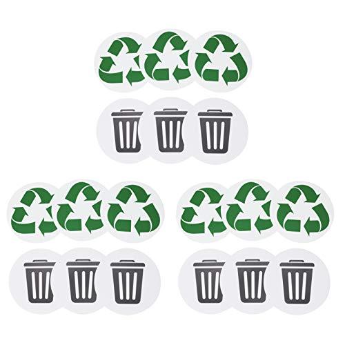 Papperskorgen, 18st återvinningsbar miljömärkning Papperskorgen återanvänder självhäftande hemtät vattentät etikett