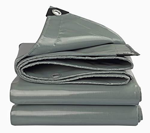 Outdoor zware regendichte doek waterdicht zonnezeil dekzeil stoom vrachtwagen canvas Oxford doek plastic dekzeil vloerbedekking 3mX6m Grijs