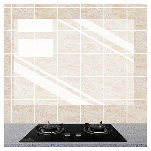 3 x durchsichtiger Wandschutz für die Küche, ölfest, wasserdichter Aufkleber, selbstklebende Vinylfolie für Schranktüren, Wände, selbstklebende Aufkleber für Küche, Esszimmer, Holz Arbeitsplatte
