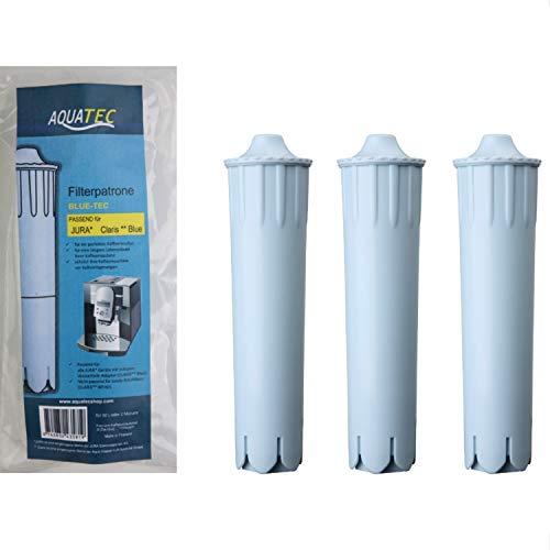 AQUATEC 3X Filterpatrone passend für Jura Claris Blue Kaffeevollautomat