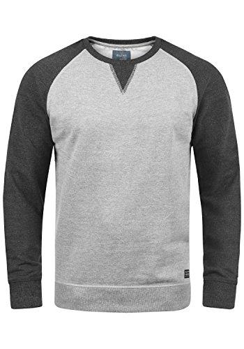Blend Aari Herren Sweatshirt Pullover Pulli Mit Rundhalsausschnitt, Größe:XL, Farbe:Zink Mix (70815)