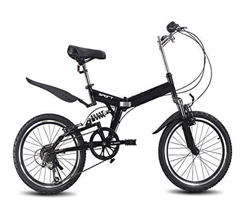 TX 20 Pulgadas Bicicleta Plegable 6 Velocidad Variable Bicicleta de Carretera Bicicleta niños Bicicleta de montaña portátil Ligero Bicicleta Plegable