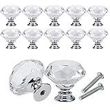 SASAU 10 unids/Set 30mm Diamante Forma de diseño Cristal Cristal Botillas Armario de Armario de Armario (Color : 10Pcs)