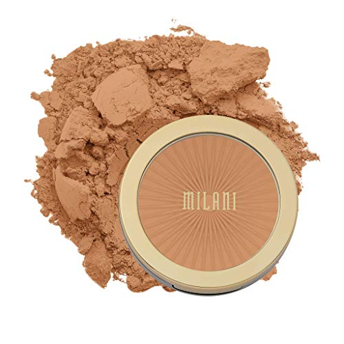 Milani Silky Matte Bronzing Powder - Sun Tan (0.34 Ounce) Vegan, Cruelty-Free Bronzer - Shape & Contour Face with a Full Matte Finish