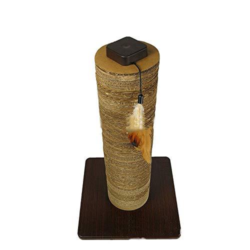 Huanlei Kratzbaum-Turm Corrugated Column Tree Turm Wellpappe Umweltschutz und Ungiftigkeit außer Raum Pet Interactive Spielzeug Kratzmöbel (Color : Brown, Size : Free Size)