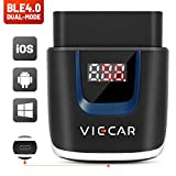 Viecar VP003 Bluetooth 4.0 BLE OBD2 Car Code Reader for Android/iOS OBDII Diagnostic Scanner Tool with LCD Display Instant Voltage