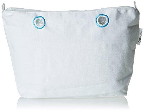 O bag Canvas Mini Base, Damen Handtasche, Bianco, 29x25x9 cm (B x H L)