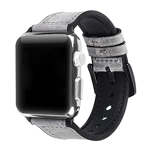 Correa De Cuero De Gel De Sílice Compatible con La Correa De Repuesto De Apple Watch para Hombres Y Mujeres Iwatch SE Series 6/5/4/3/2/11,42mm/44mm