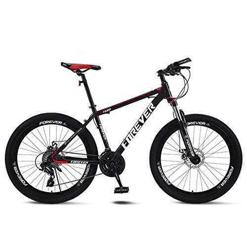 CPY-EX Erwachsene Mountain Bike 26 Zoll Doppelscheibenbremse Stadt Fahrrad Einrad-Off-Road Variable Speed MTB Mountainbike (21/24/27/30 Speed),A,21